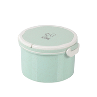 Round lunch box, Wheat straw bento box