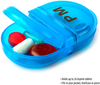 Pill Box Organizer Pocket Small Case Holder Daily AM&PM Containers Medicine Holder