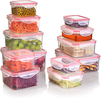 12pcs Set Food Storage Containers with Lids Reusable Plastic Containers